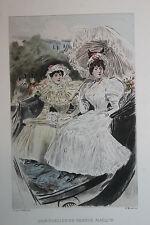 Eau-forte aquarelle pochoir La Femme à Paris Pierre Vidal Fred. Massé Uzanne 4