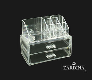 Clear Acrylic Make Up Organiser Storage Box Set (A4) 3890772593254