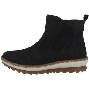 Billiger Preis 2019 echt aliexpress Details zu Rieker Wildebuk-Weaving Schuhe Damen Antistress Boots  Stiefelette black Z8694-00