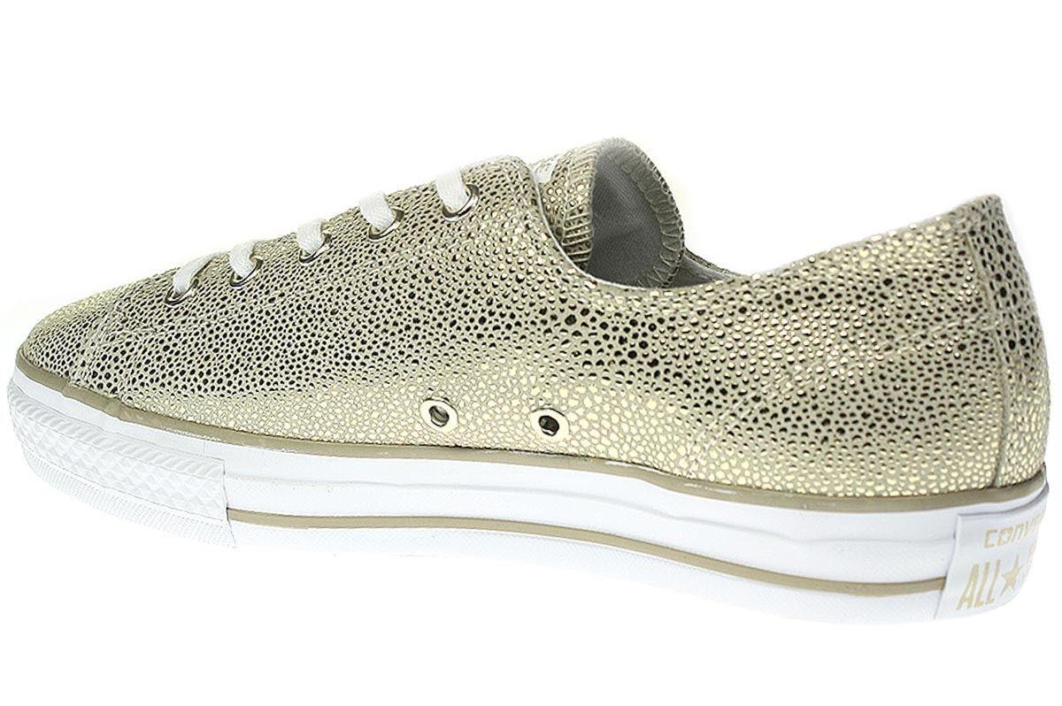 Converse Chuck Taylor-Scarpe da Donna scarpe da ginnastica Chucks Chucks Chucks - 553333c-LIGHT-oro-nero e547ca