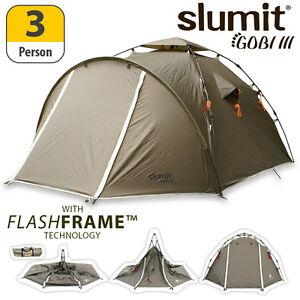 NEW-SLUMIT-GOBI-FLASHFRAME-POP-UP-TENT-4-CAMPING-2-FESTIVAL-3-MAN-PERSON-BERTH