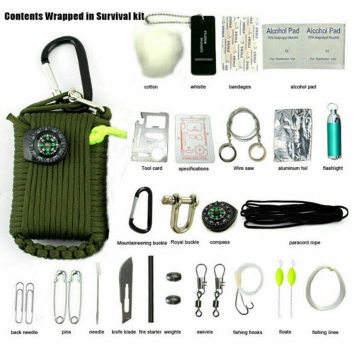 29 in 1 Outdoor Camping Emergency Survival Kit Bag EDC SOS Tactical Tool Set US