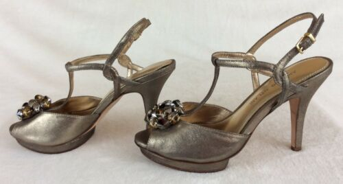 bar Slingbacks T Antonio platform Big nieuw dames Melani 7 Peep Gouden Jewels 5m zVSUMp