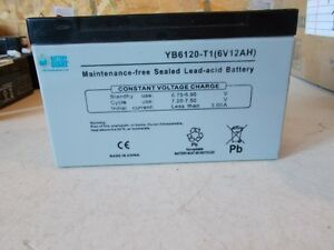 NEW-Battery-Giant-YB6120-T1-Sealed-6V-12AH-Maintenance-Free-Battery-FREE-SHIP