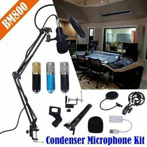 Pro Kondensator Microphone Mikrofon Kit Komplett Für Studio Aufnahme Karaoke