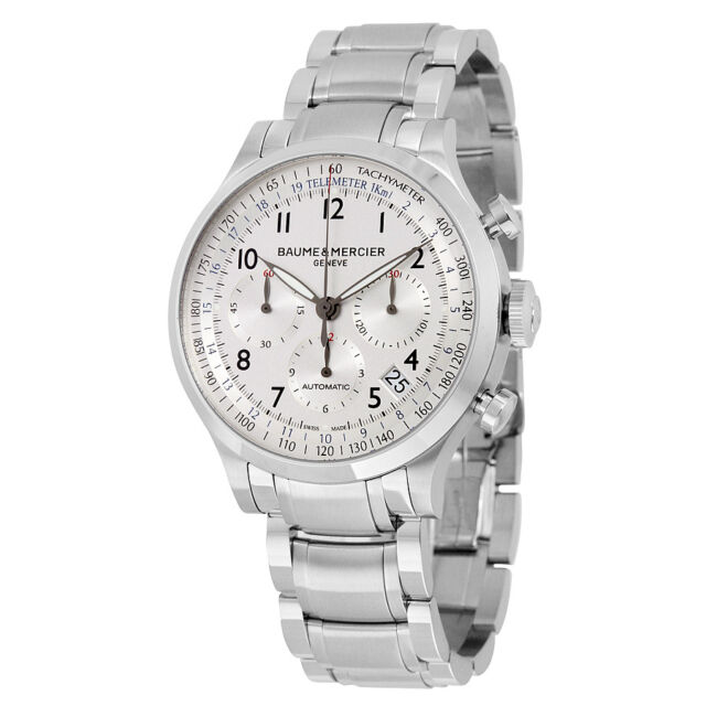 Baume and Mercier Capeland Silver Dial Automatic Mens Watch 10064