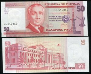 PHILIPPINES-50-PISO-PESOS-2012-P-193-UNC-LOT-5-PCS