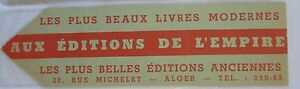 Antique-Brand-Pages-Bookmark-Advertising-Editions-of-L-039-Empire