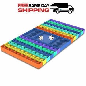 Rainbow Chess Board Toy Big Size Popit Fidget Dice Pop Push it Bubble Sensory
