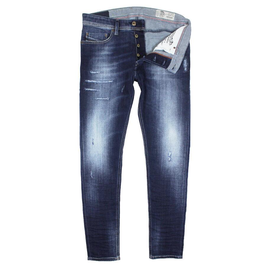 Diesel - Tepphar 084GF Distressed Slim Carred Jeans - W30 L34 - RRP
