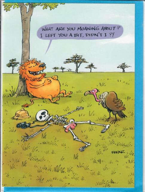 AniMalfunction I LEFT YOU A BIT , Funny Birthday Card