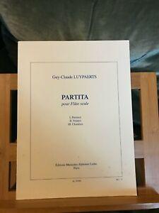 Guy-Claude Luypaerts Partita pour flûte seule partition éditions Leduc