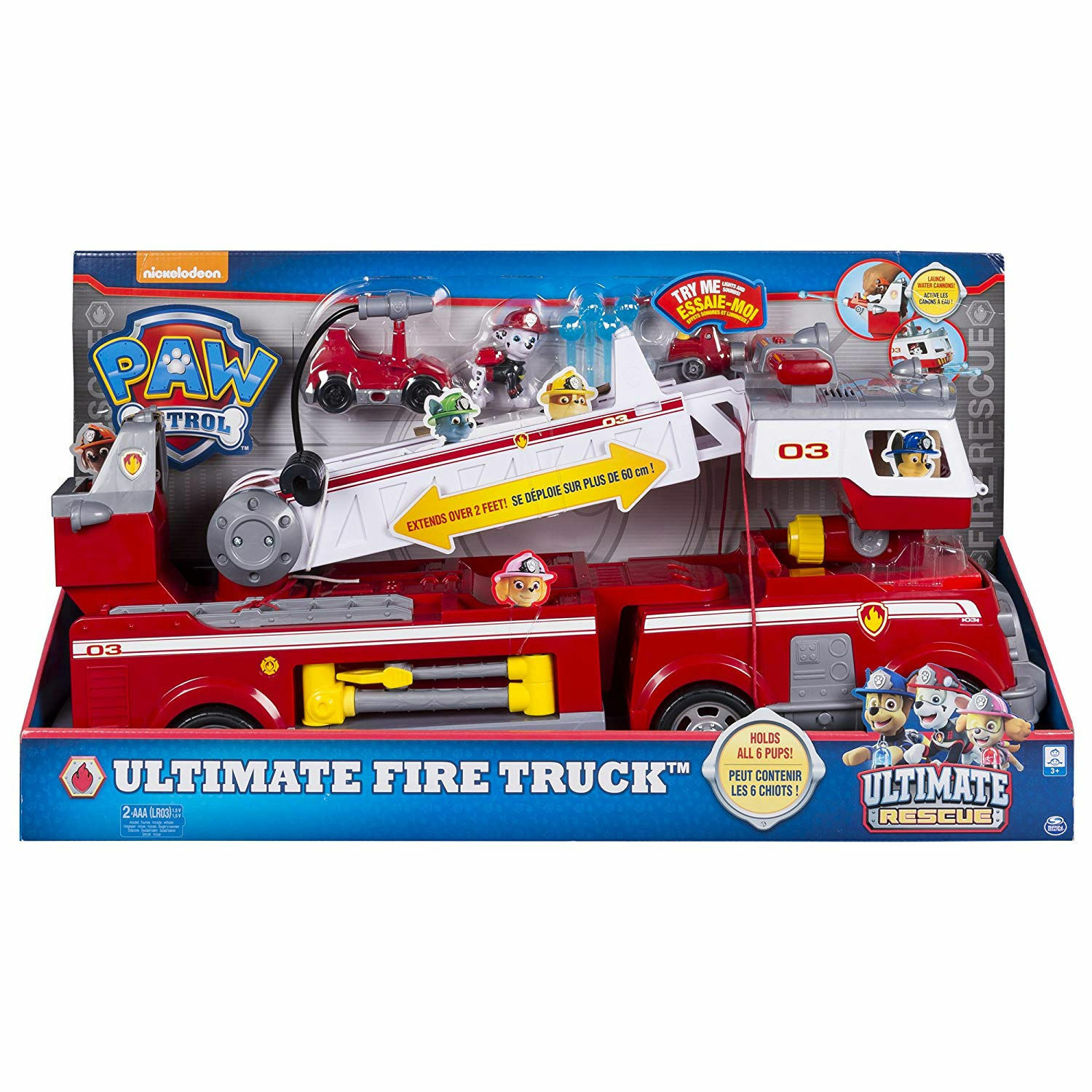 Spin Master 20100693- Paw Patrol - Ultimate Rescue Feuerwehrauto