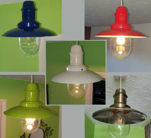 Vintage Country Barn style métal pendentif lampe de plafond Shade simple coupe aucun câblage