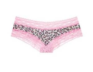 68a4d349925 MIP Victoria s Secret Pink Animal Print Lace‑waist Cheeky Panty