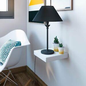 Etagere-Blanc-Glossy-Bois-Bibliotheque-Livre-Murale-Laquee-25cm-x-25cm-Fixation