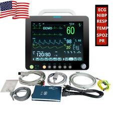 12inch Hd Vital Signs Patient Monitor Ecgnibpresp Tempspo2 Pr Icu Monitor Ce