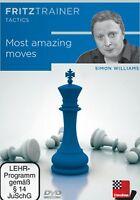 Chessbase: Williams - Most Amazing Moves - Schach Fritztrainer Neu / Ovp