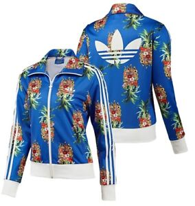 ef3e2a6d26aec New Adidas Originals Firebird GYM Jacket Fruit Flower Brazilian Blue ...
