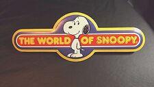 WORLDS OF WONDER THE WORLD OF SNOOPY DISPLAY FOAM BOARD 12 3/4 IN LONG UNUSED