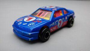 VINTAGE-1970s-MAJORETTE-N-279-1-60-scala-del-modello-di-magazzino-auto-da-corsa-pressofuso-blu