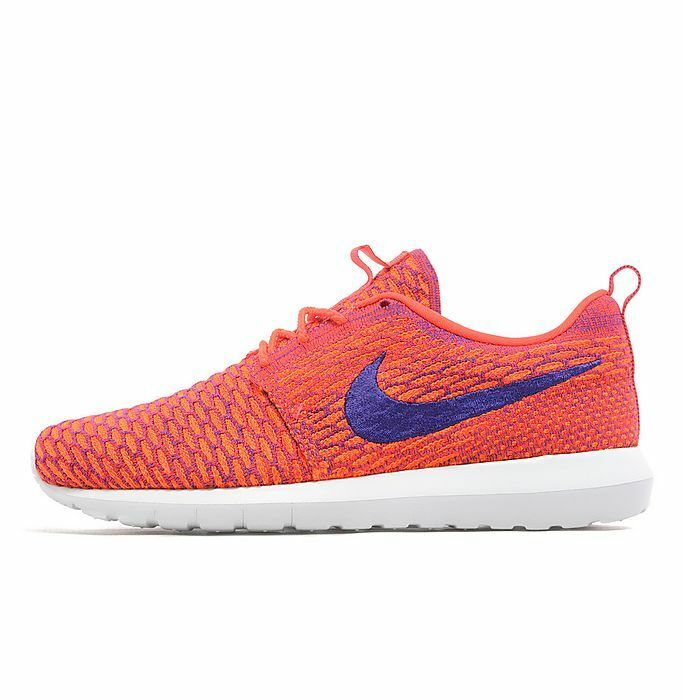 Nike Flyknit Roshe Run  Mens Trainers Shoes Shoes Shoes Bright Crimson/Total Orange afb402