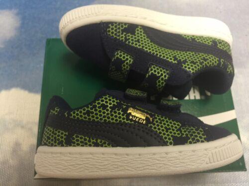 Puma Kids Suede Night Camo V Hook /& Loop Retro Sneakers Toddler Size 9 10