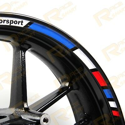 For BMW S1000RR MOTORBIKE RIM STRIPES STICKERS WHEEL DECALS TAPE STEREO PASTERS