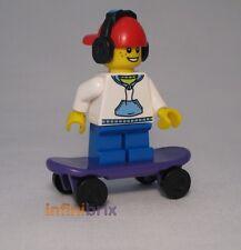 LEGO SU MISURA Skateboard Bambino Cuffie + incassata, ALLA MODA SKATER BOY NUOVO