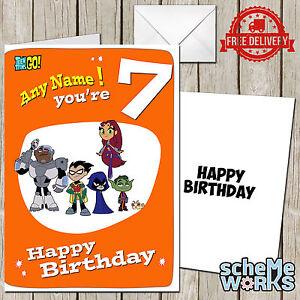 Teen titans go personalised greeting birthday card batman robin image is loading teen titans go personalised greeting birthday card batman bookmarktalkfo Gallery