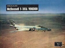 McDONNELL F-101A VOODOO: ORIGINAL 1955 2-PAGE FEATURE INCL COLOUR PLATE TO FRAME