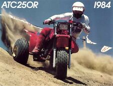 Vintage Honda ATC250R 1984 Fuel Tank Wing Decals ATC 250R 3 Wheeler AHRMA Works