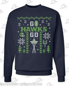 image is loading seattle seahawks 039 ugly christmas sweater 039 navy - Seahawks Christmas Sweater