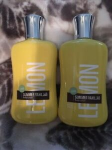 NEW-Bath-amp-Body-Works-Summer-Vanillas-Lemon-Body-Lotion-8oz-Full-Sized-X2