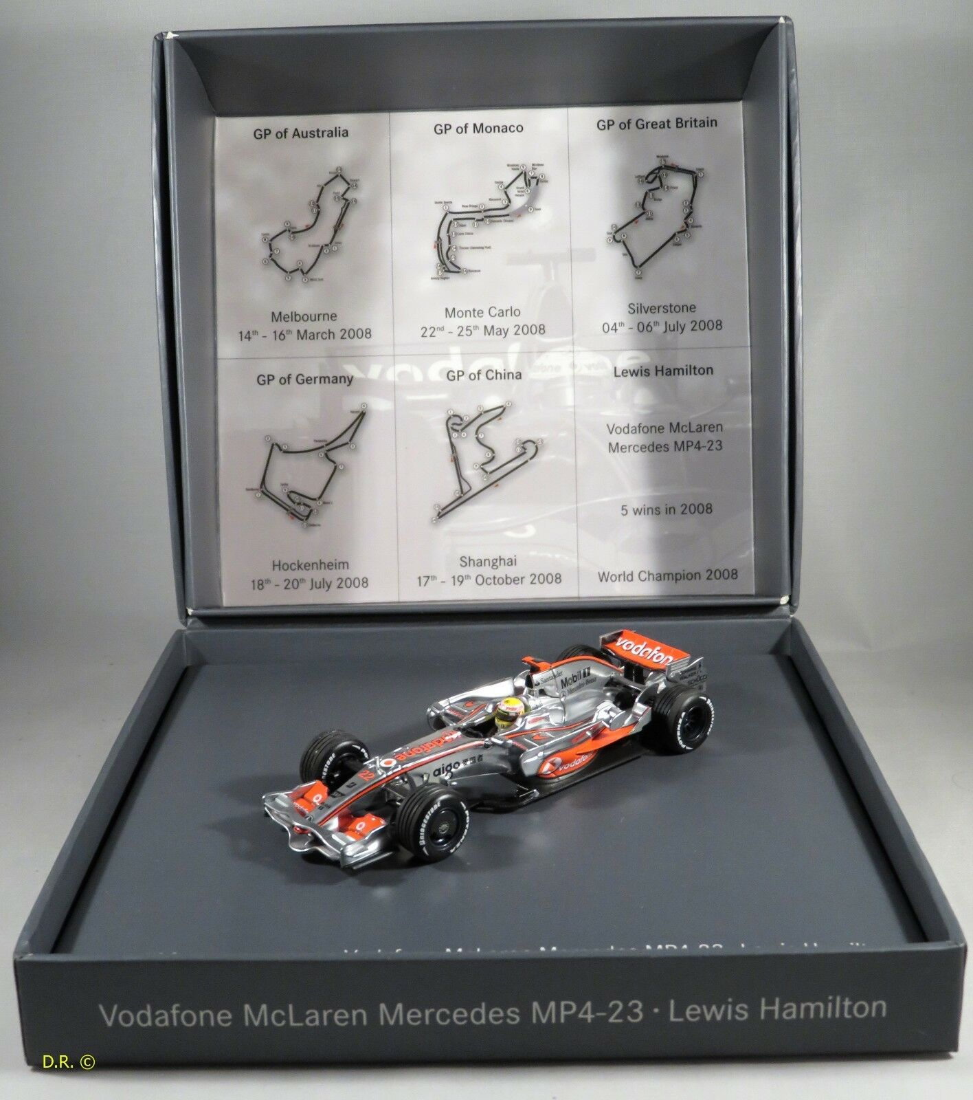 MCLAREN MP4-23  22 Lewis Lewis Lewis Hamilton WORLD CHAMPION 2008 GIFT BOX MINICHAMPS 1 43 47f8d0