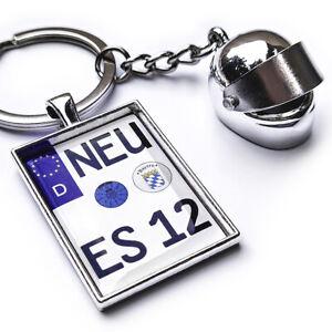 Schluesselanhaenger-Motorrad-Kennzeichen-Nummernschild-Helm-Individuell-Geschenk