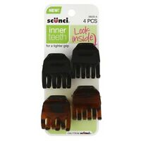 Scunci Micro Teeth Claw Hair Clips 4 Ea (pack Of 2) on sale
