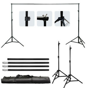 Kshioe 10Ft Adjustable Background Support Stand Photo Crossbar Kit Photography 616469595294