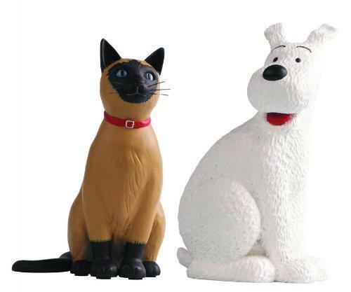 DSD 165 .Tintin雪の冒険とMoulinsartによる猫樹脂置物