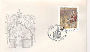 MARCOFILIA-VIII-ottavo-centenario-Perdono-Assisi-francobollo-Regola-San-France
