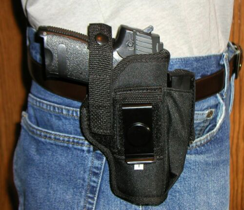 USA Custom Belt Hip Pistol Holster With extra Mag Holder Ruger P345 .45 45