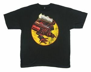 Judas-Priest-Distressed-Screaming-for-Vengeance-Black-T-Shirt-New-Official