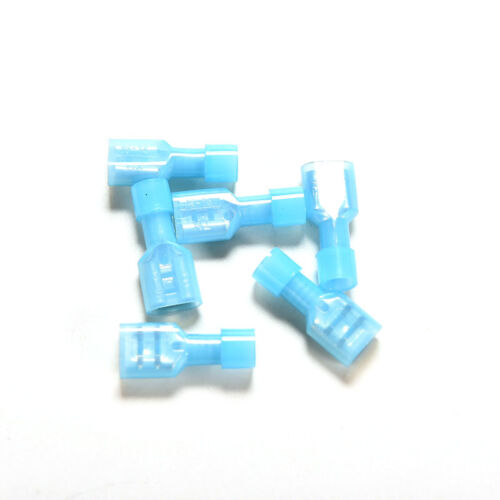 100x Blue Fully Insulated  Female Spade Crimp Connectors Terminals 16-14AWG HI