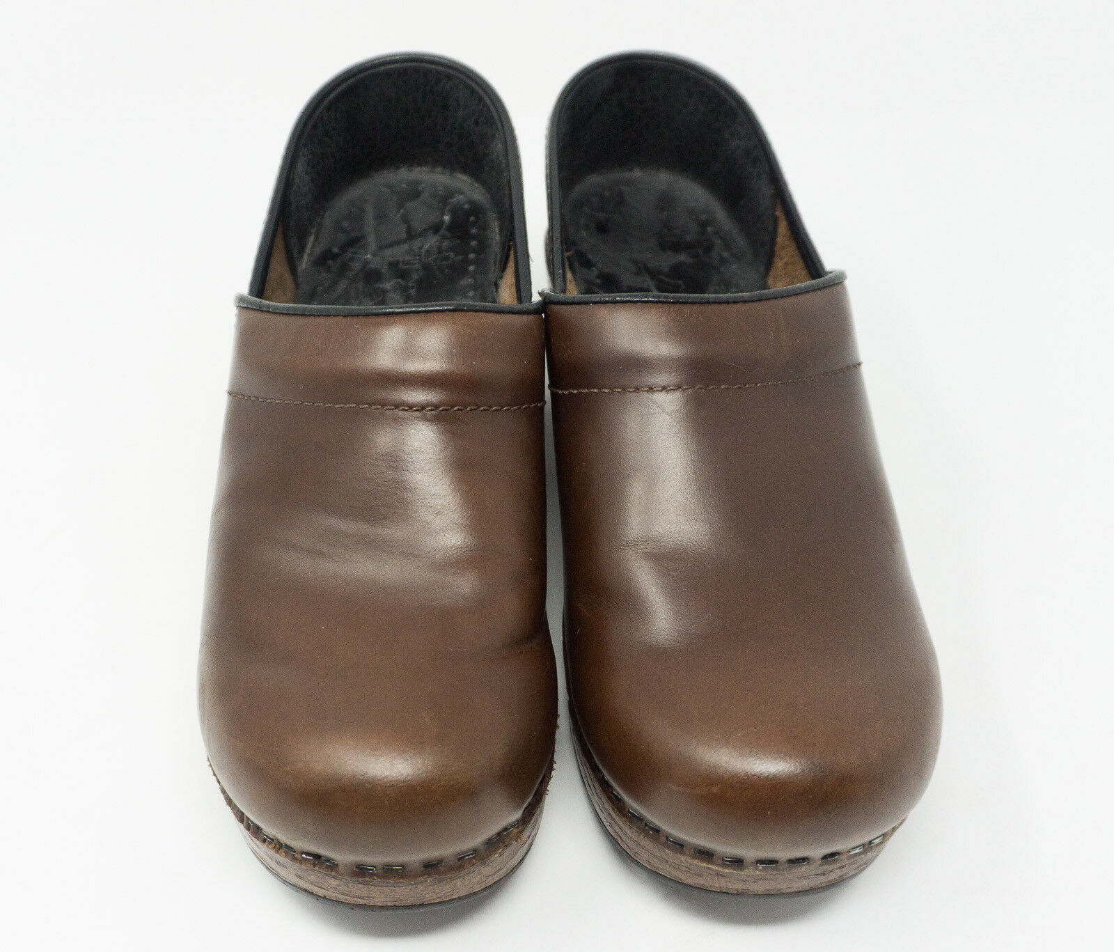 Dansko Brown Leather Slip On Clogs Casual Work shoes's Women's Size 6.5M  C201