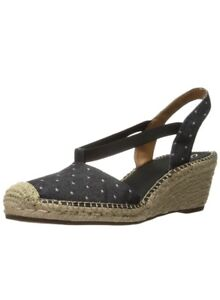 35547739374b2 Clarks Women's Petrina Kaelie Black Espadrille Wedge Sandals Size UK ...
