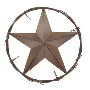 Star-in-Circle-RUSTY-BROWN-Metal-Wall-Decor-CHARMING-WESTERN-WELCOME-DECOR