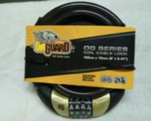 "On Guard Coil Cable Lock 6/' x 0.47/"" Combination New"