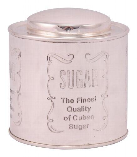 edel Zuckerdose Metall silber Sugar