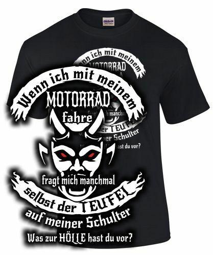 T-shirt moto biker sort Même le diable Tuning Rebel Hornet Fireblade