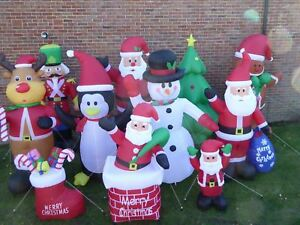 Details about Large inflatable Christmas Decorations With Lights Indoor  Outdoor Santa Snowman